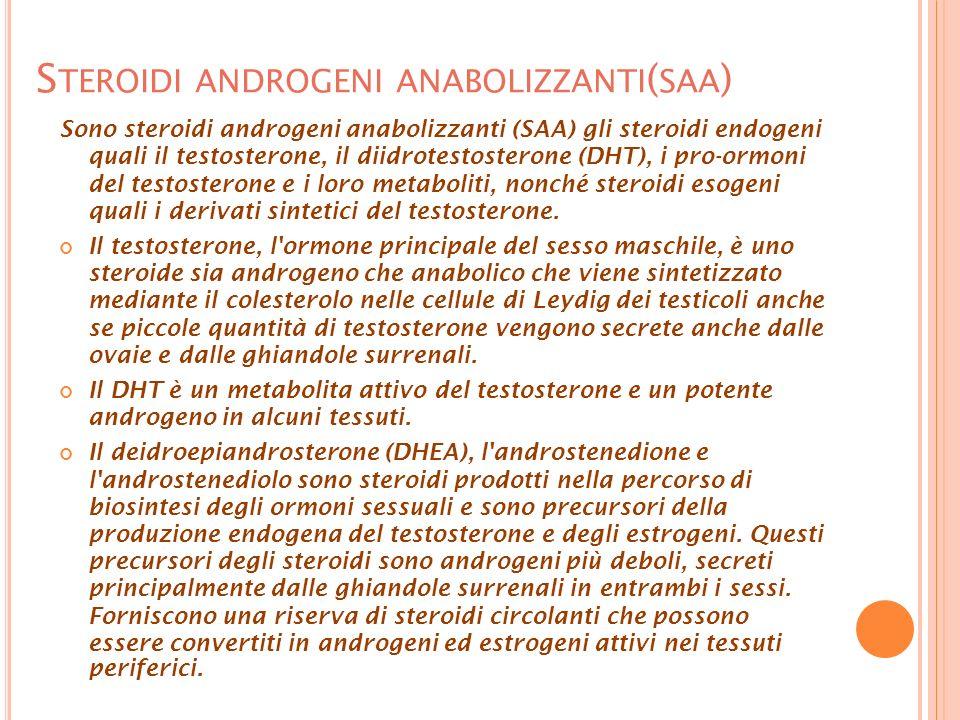 Steroidi androgeni anabolizzanti(saa)