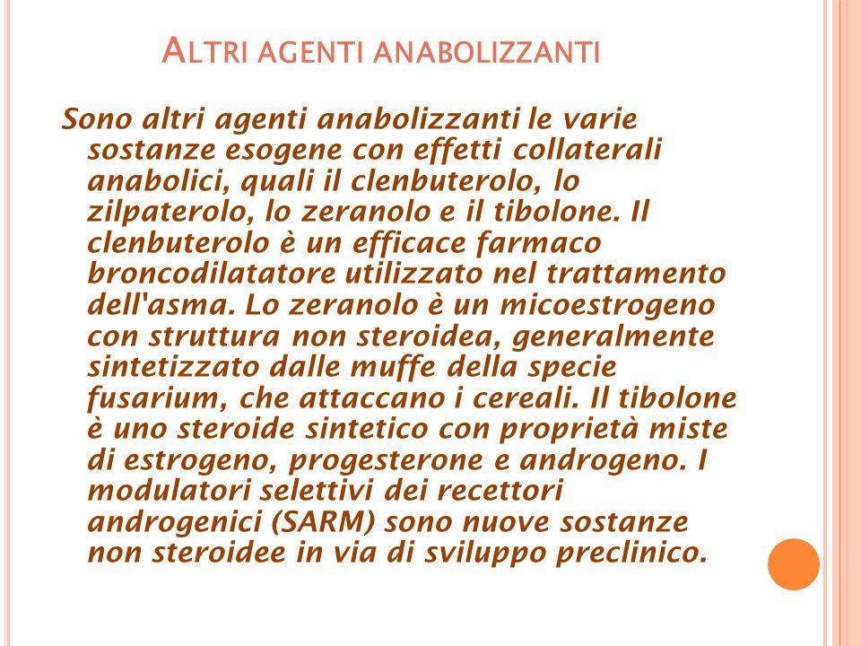 Altri agenti anabolizzanti