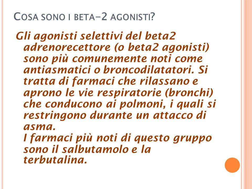 Cosa sono i beta-2 agonisti