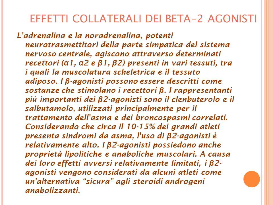 EFFETTI COLLATERALI DEI BETA-2 AGONISTI