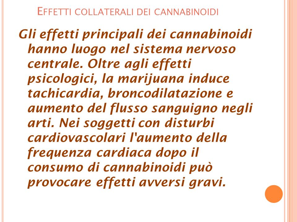 Effetti collaterali dei cannabinoidi