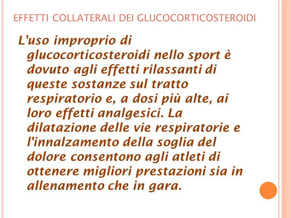 EFFETTI COLLATERALI DEI GLUCOCORTICOSTEROIDI