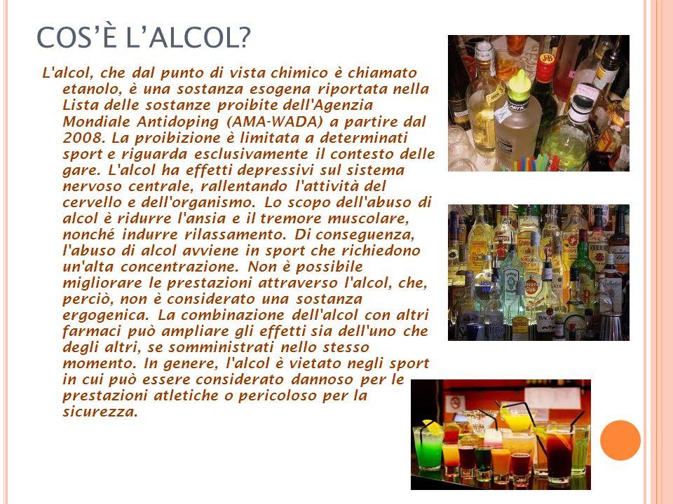 COS'È L'ALCOL