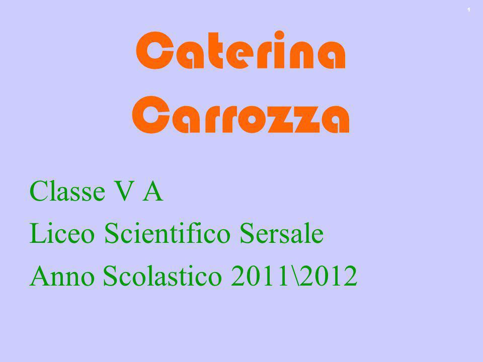 Caterina Carrozza Classe V A Liceo Scientifico Sersale