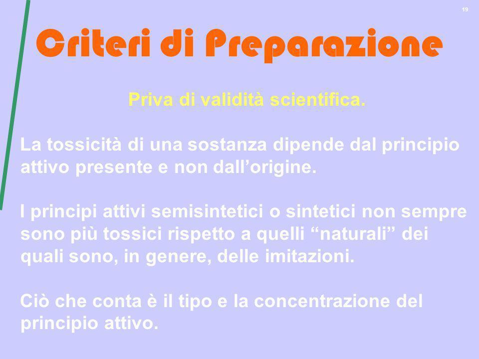 Criteri di Preparazione
