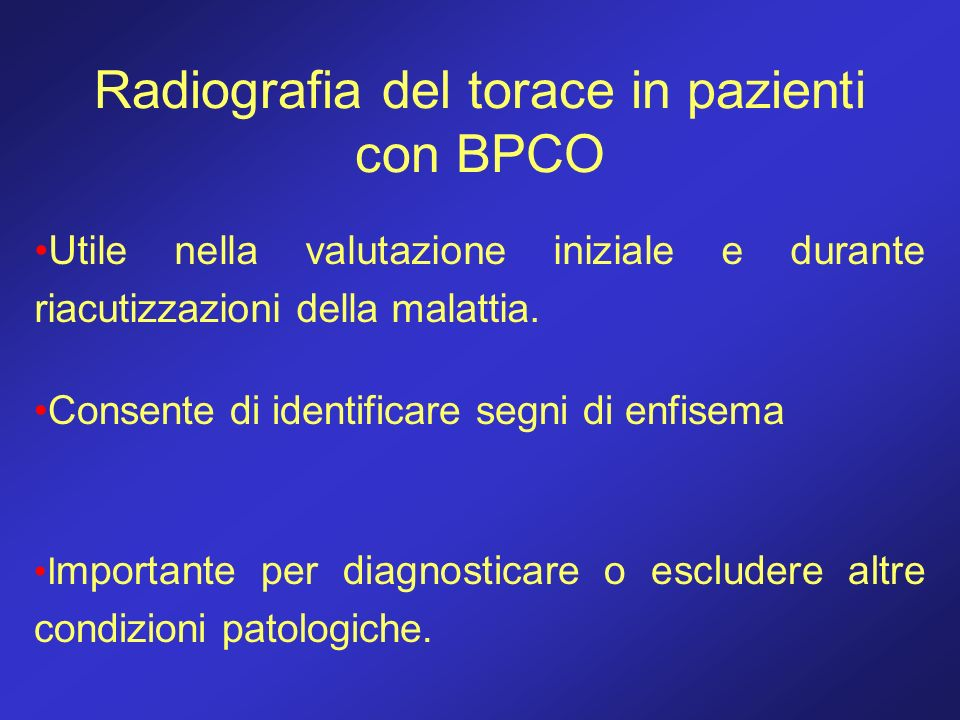 Radiografia del torace in pazienti con BPCO