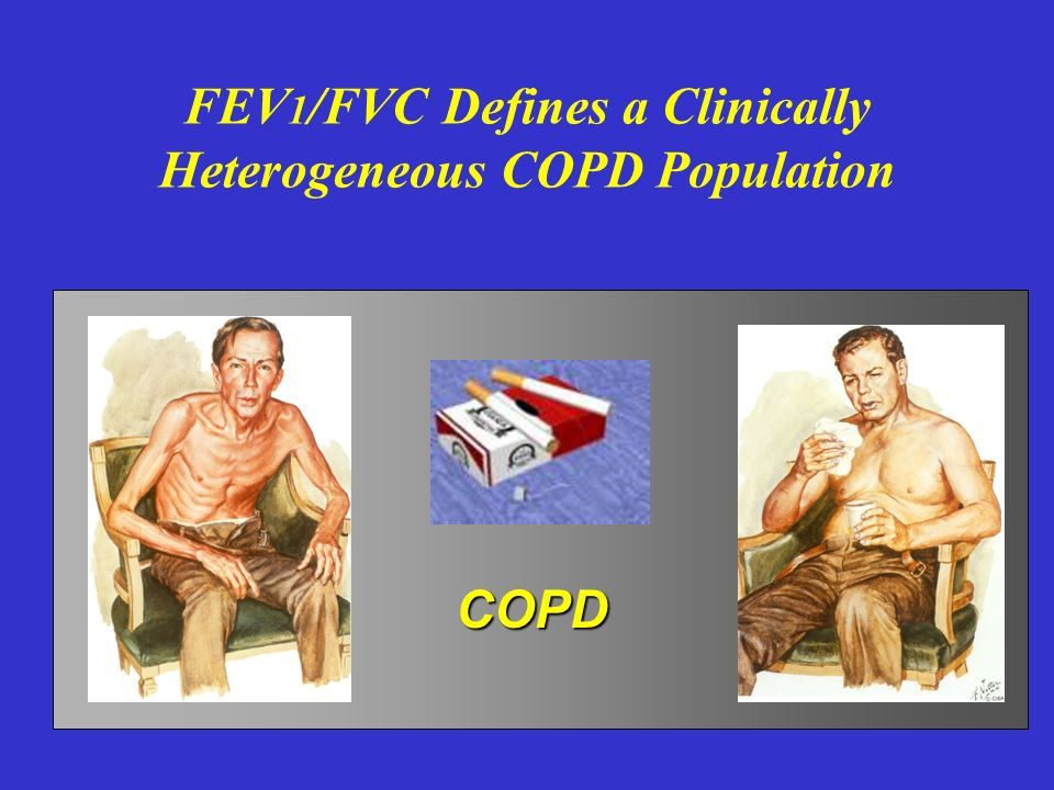 FEV1/FVC Defines a Clinically Heterogeneous COPD Population