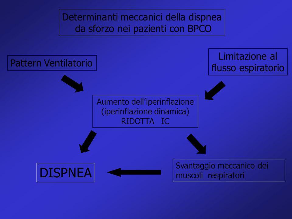 DISPNEA Determinanti meccanici della dispnea