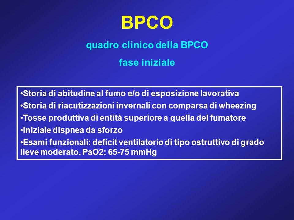 quadro clinico della BPCO