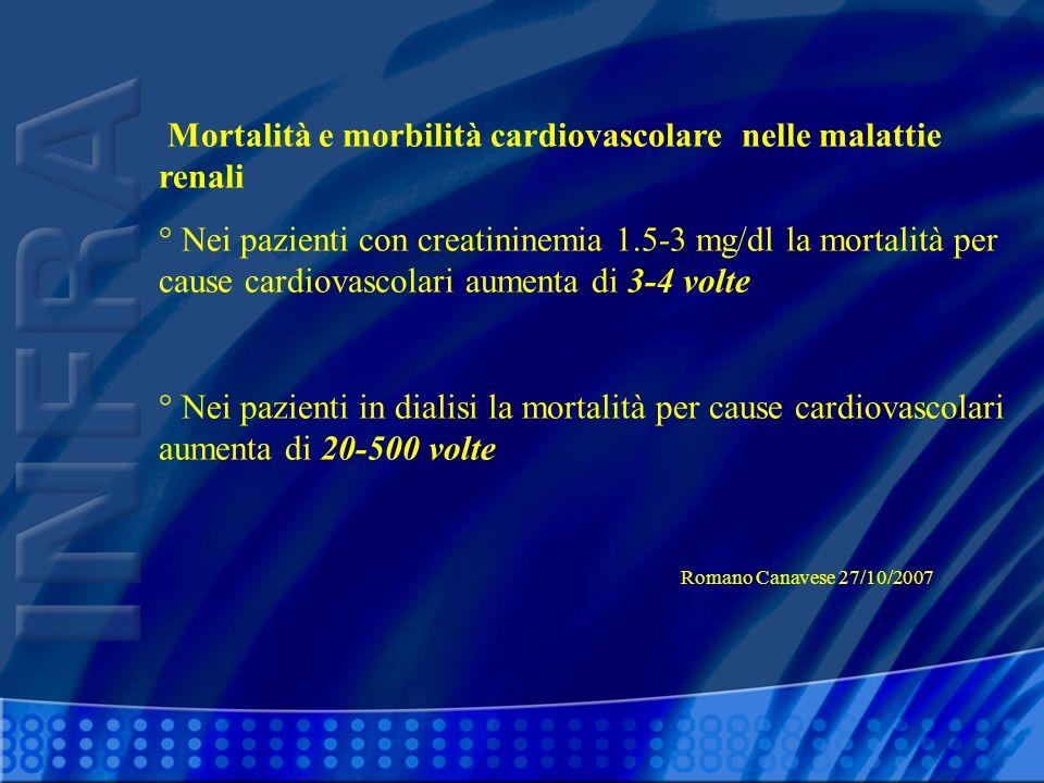 Mortalità e morbilità cardiovascolare nelle malattie renali