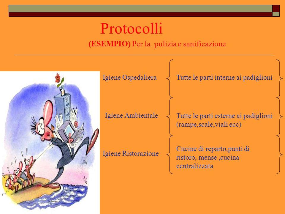 Protocolli (ESEMPIO) Per la pulizia e sanificazione Igiene Ospedaliera