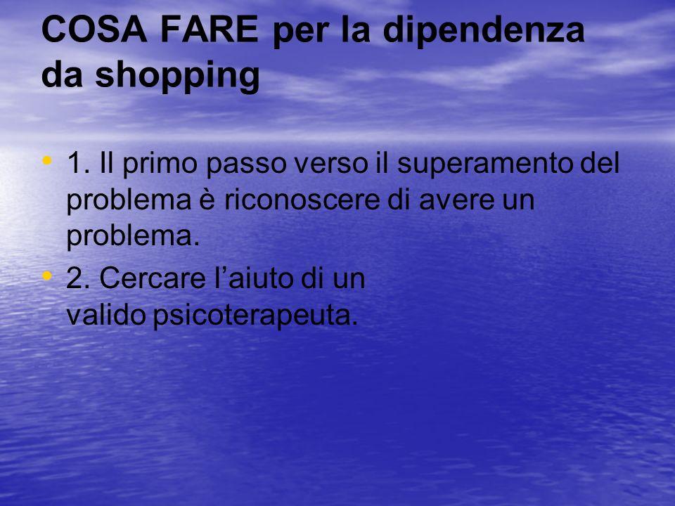 COSA FARE per la dipendenza da shopping