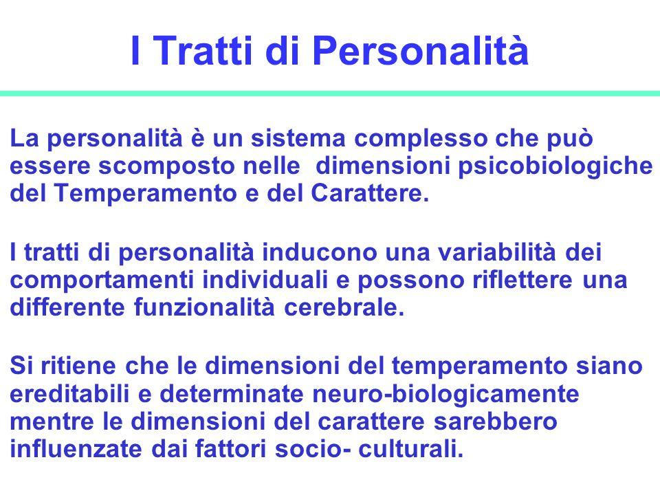 I Tratti di Personalità