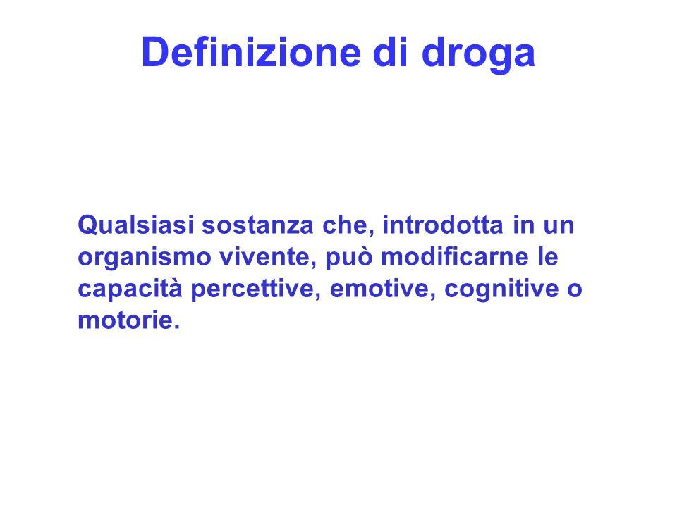 Definizione di droga