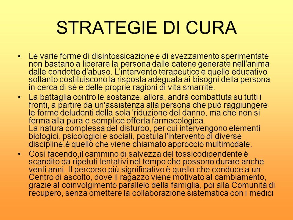 STRATEGIE DI CURA