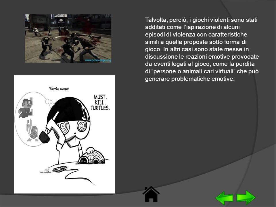 Talvolta, perciò, i giochi violenti sono stati additati come l'ispirazione di alcuni episodi di violenza con caratteristiche simili a quelle proposte sotto forma di gioco.