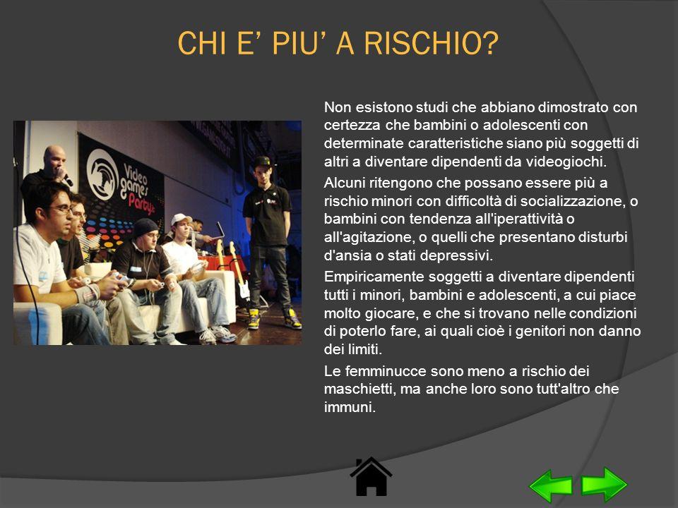 CHI E' PIU' A RISCHIO