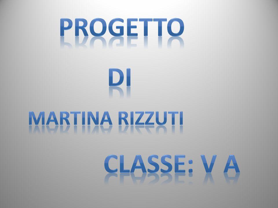 PROGETTO DI MARTINA RIZZUTI CLASSE: V A