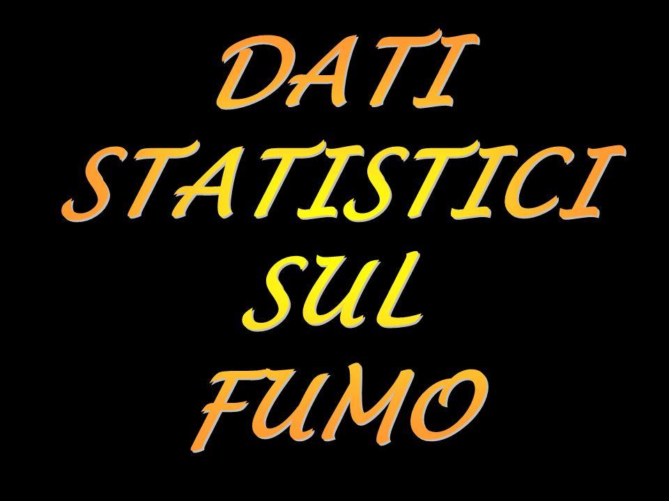 DATI STATISTICI SUL FUMO