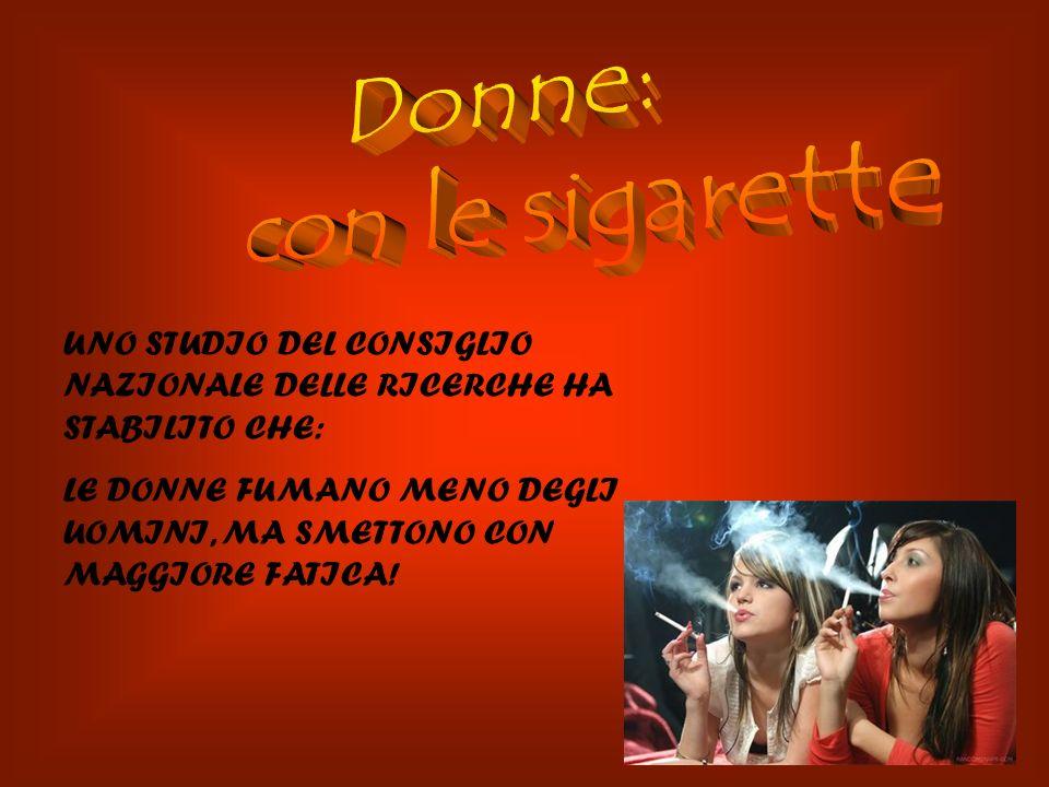 Donne: con le sigarette
