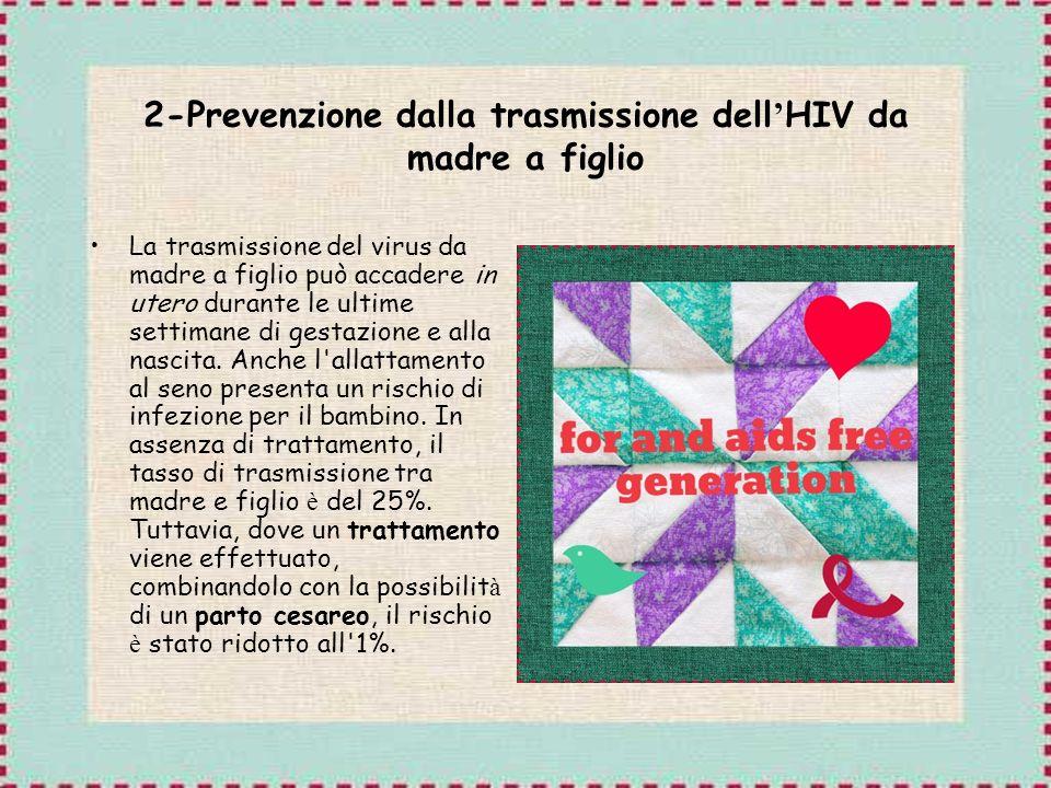 2-Prevenzione dalla trasmissione dell'HIV da madre a figlio