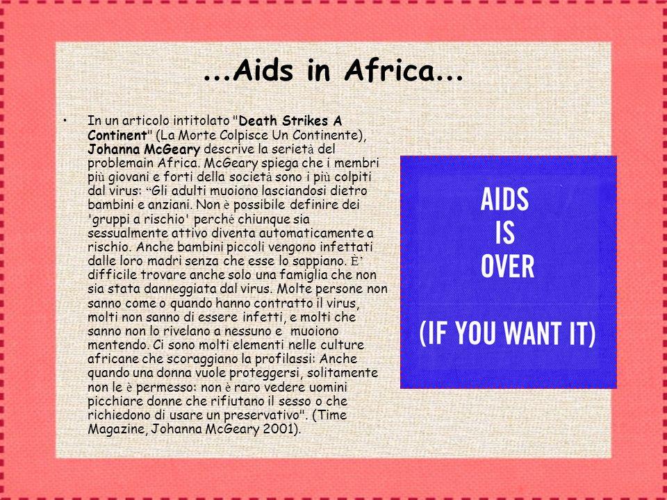 …Aids in Africa…