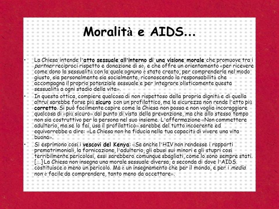 Moralità e AIDS…