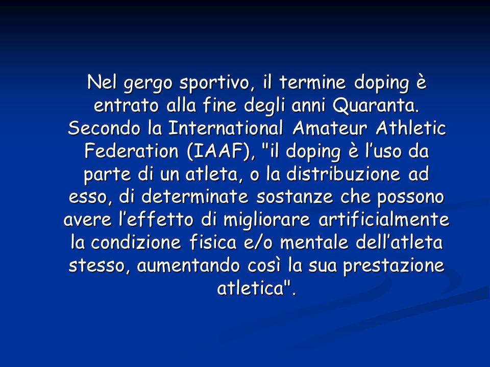 Nel gergo sportivo, il termine doping è entrato alla fine degli anni Quaranta.