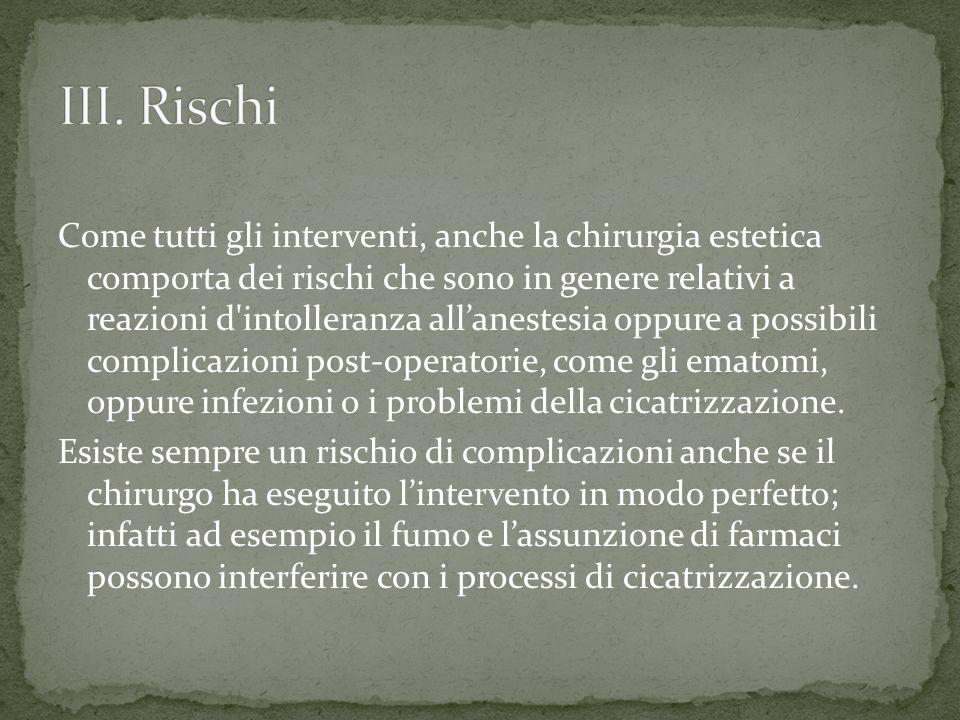 III. Rischi