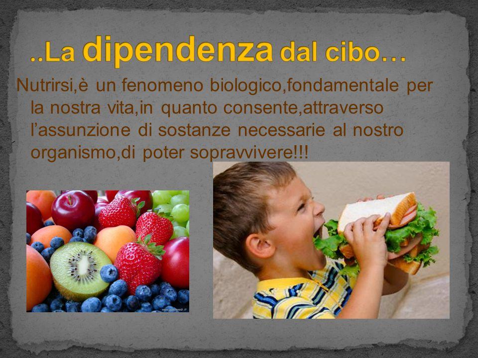 ..La dipendenza dal cibo…