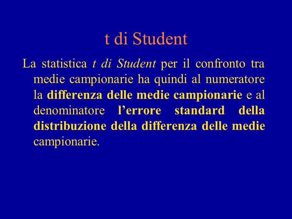 t di Student
