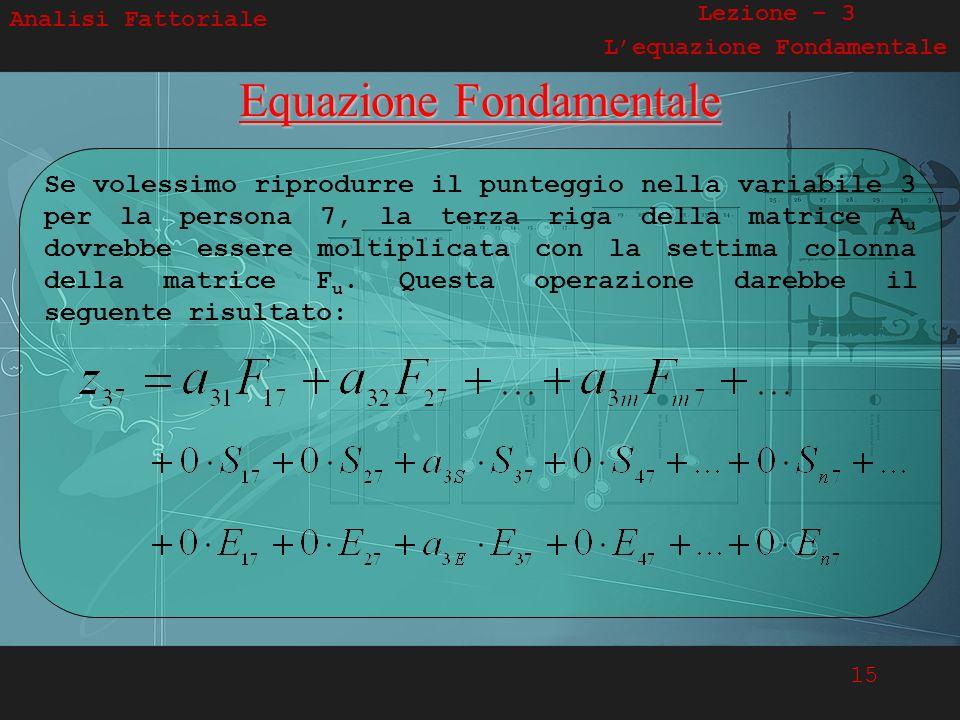 L'equazione Fondamentale