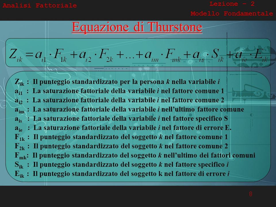 Equazione di Thurstone