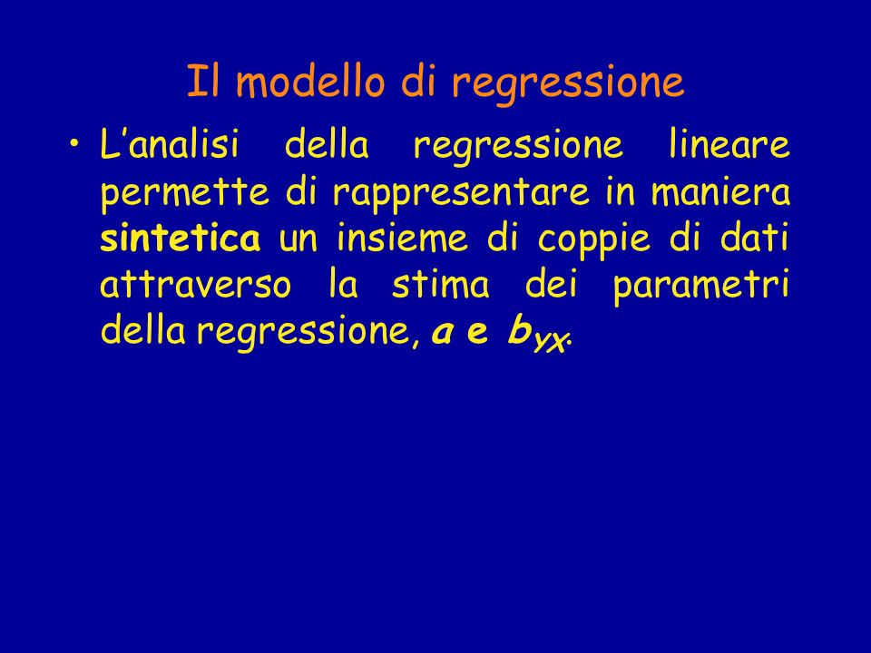 Il modello di regressione