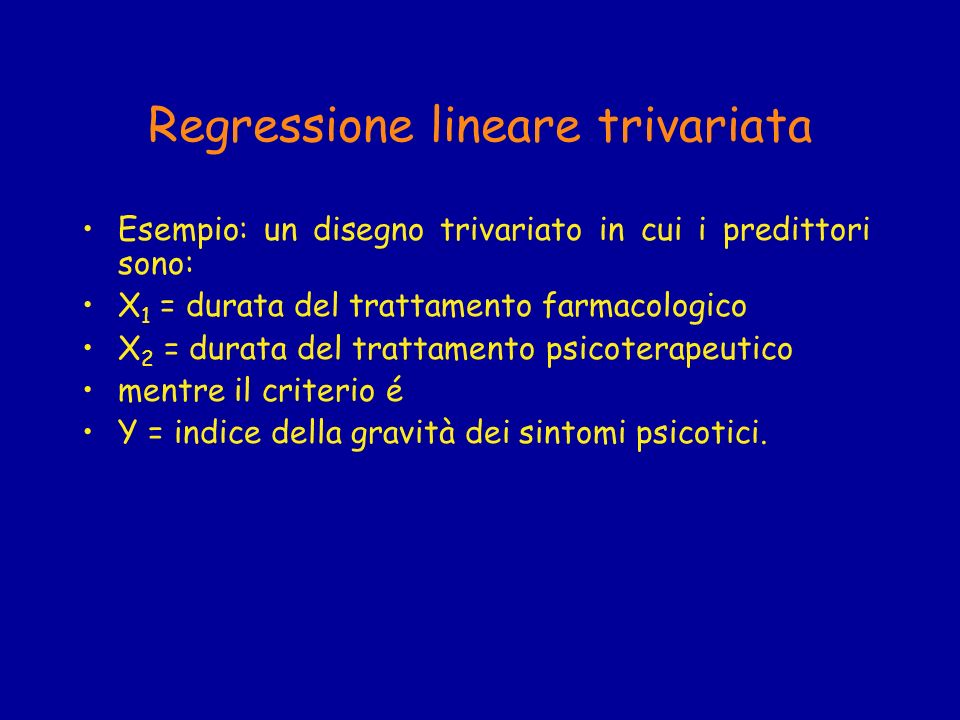 Regressione lineare trivariata