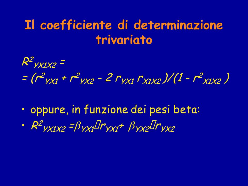 Il coefficiente di determinazione trivariato