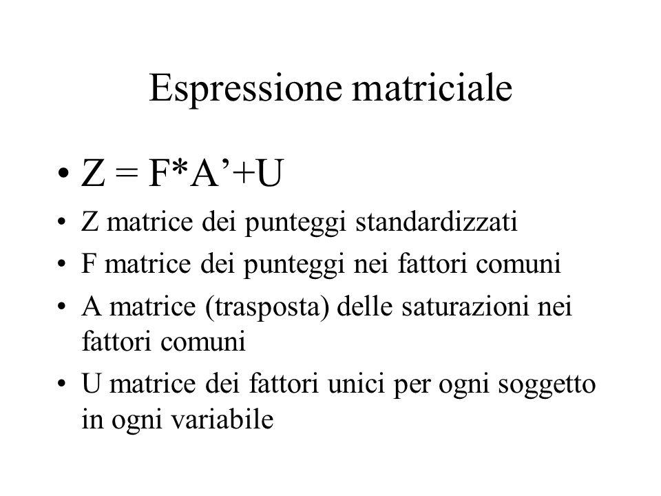 Espressione matriciale