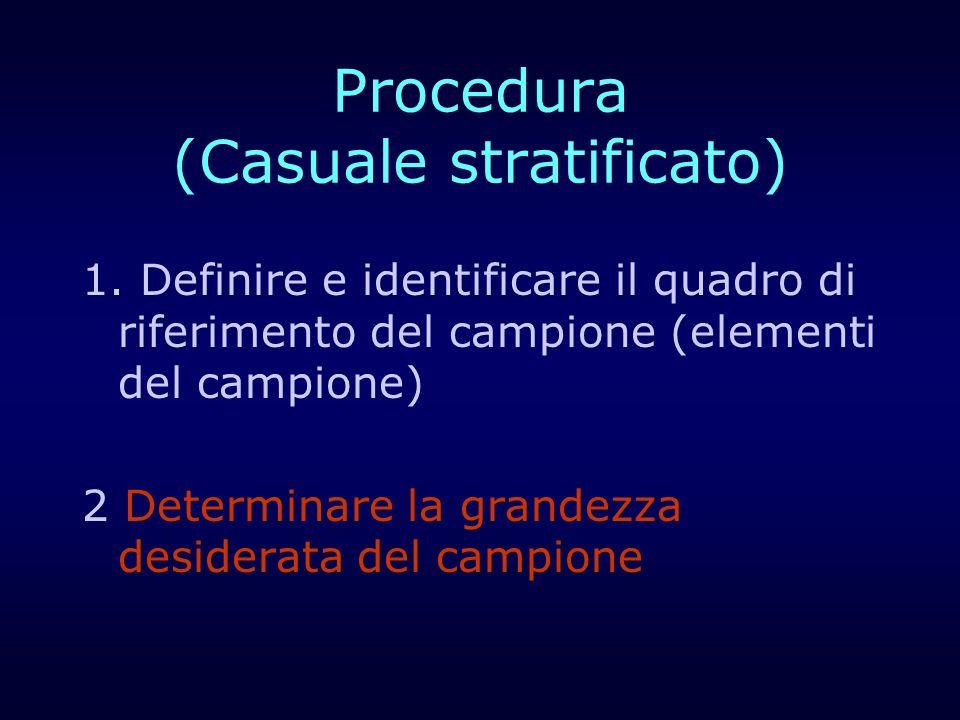 Procedura (Casuale stratificato)