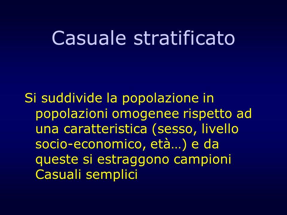 Casuale stratificato