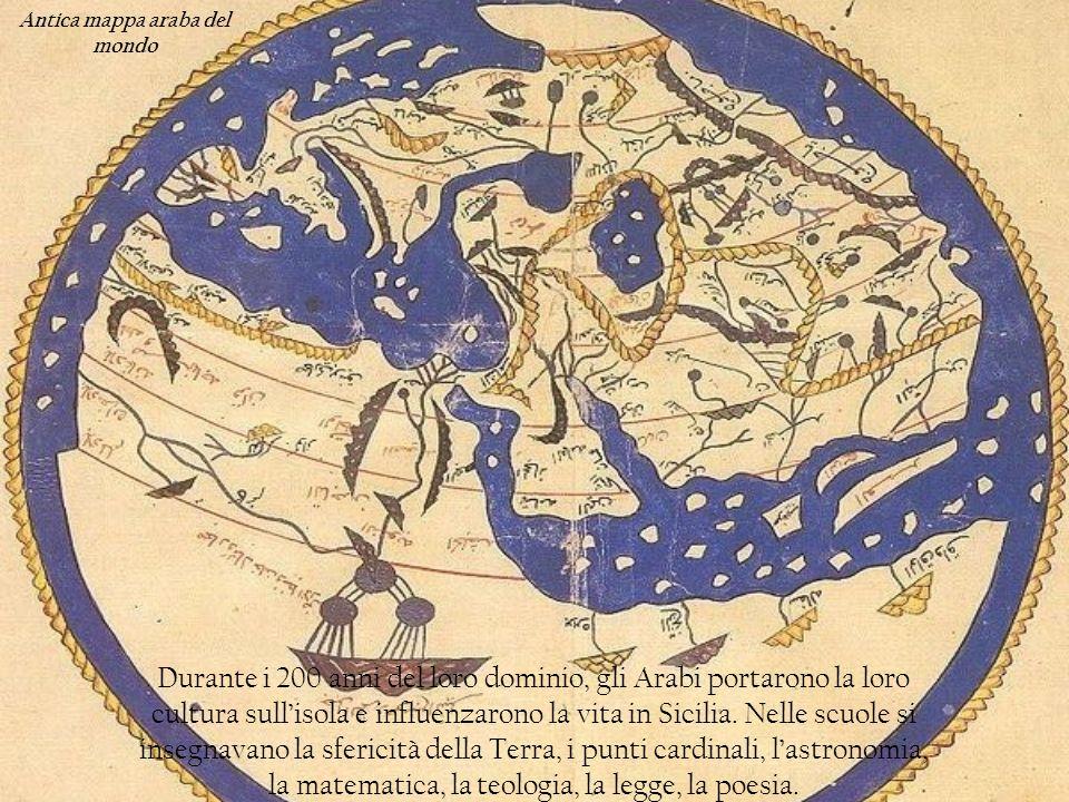 Antica mappa araba del mondo