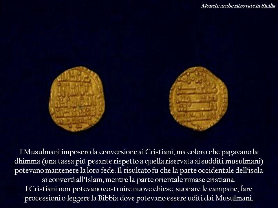 Monete arabe ritrovate in Sicilia