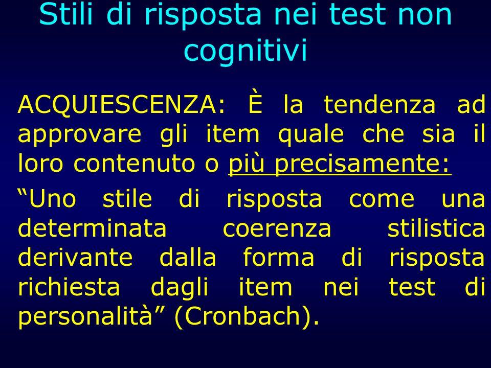 Stili di risposta nei test non cognitivi