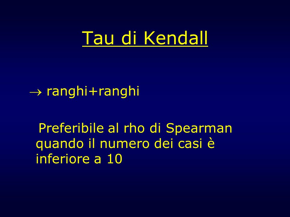 Tau di Kendall  ranghi+ranghi
