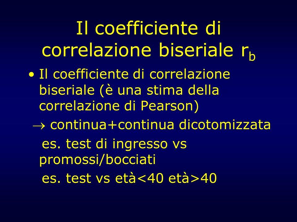 Il coefficiente di correlazione biseriale rb