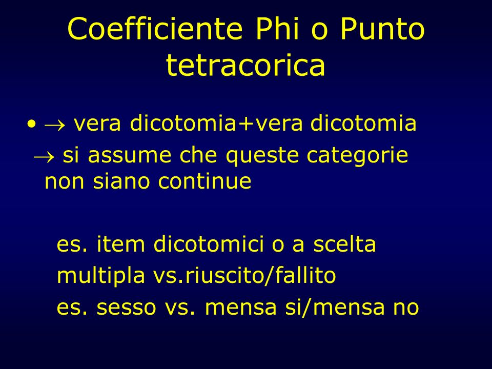 Coefficiente Phi o Punto tetracorica