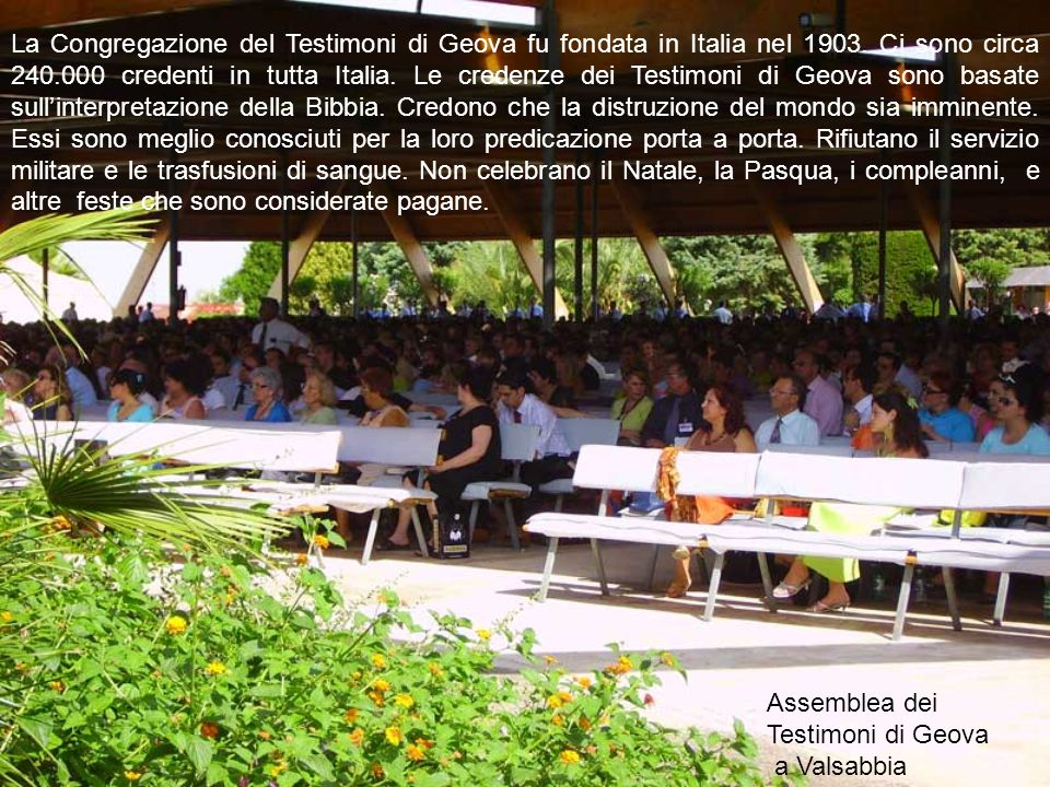 Assemblea dei Testimoni di Geova a Valsabbia
