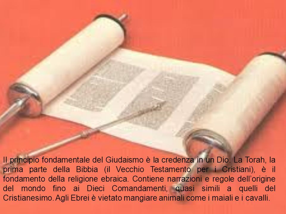 Il principio fondamentale del Giudaismo è la credenza in un Dio