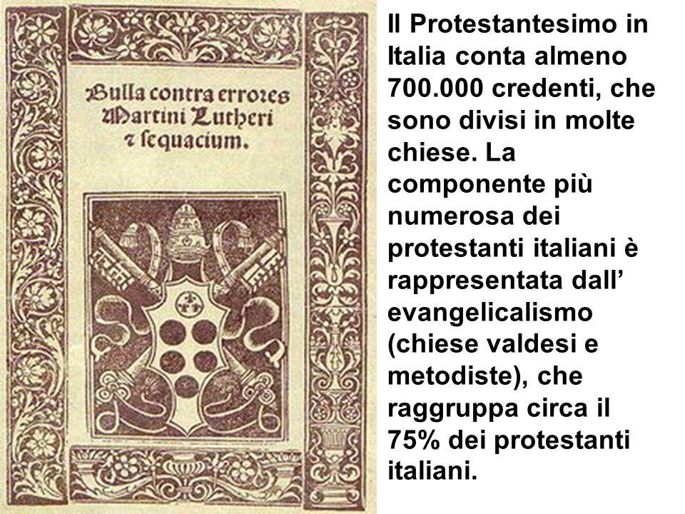 Il Protestantesimo in Italia conta almeno 700