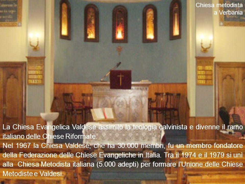 Chiesa metodista a Verbania. La Chiesa Evangelica Valdese assimilò la teologia calvinista e divenne il ramo italiano delle Chiese Riformate.