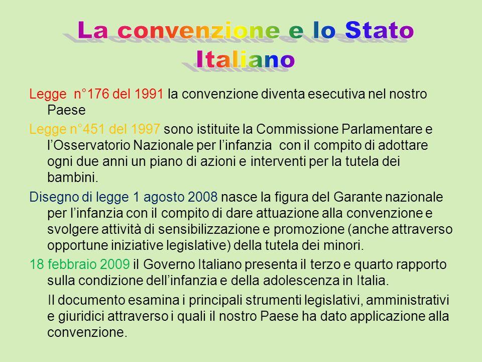 La convenzione e lo Stato Italiano